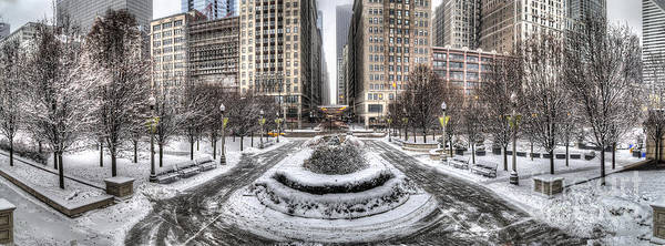 Loop Photograph - Chicago In Winter by Twenty Two North Photography