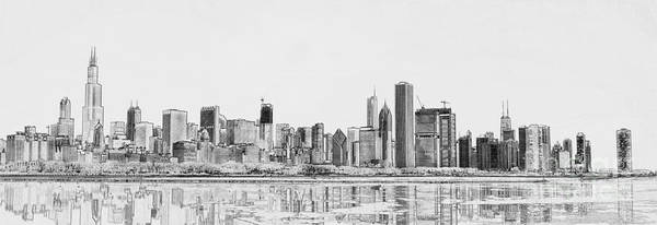 Chicago River Digital Art - Chicago Panorama by Dejan Jovanovic