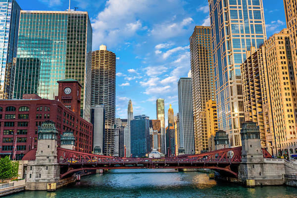 Chicago Photograph - Chicago River Corridor by Carl Larson Photography