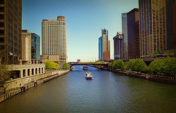 Photograph - Chicago River by Milena Ilieva