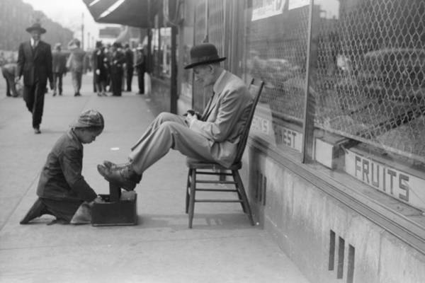 Wall Art - Photograph - Chicago Shoeshine, 1941 by Granger