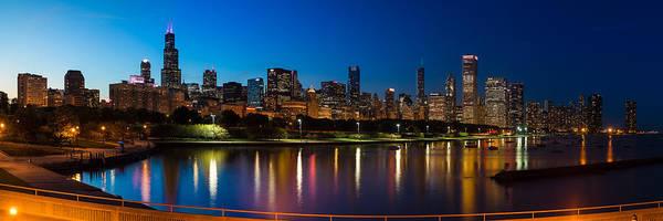 Wall Art - Photograph - Chicago Skyline Panorama by Steve Gadomski