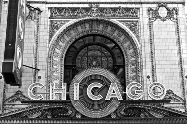 Chicago Skyline Art Photograph - Chicago Theater Marquee by Frozen in Time Fine Art Photography