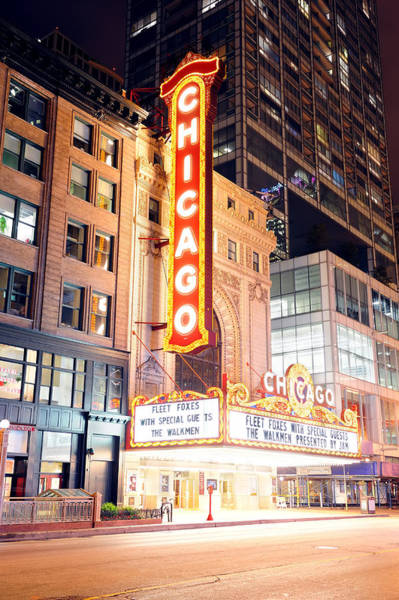Photograph - Chicago Theatre by Songquan Deng