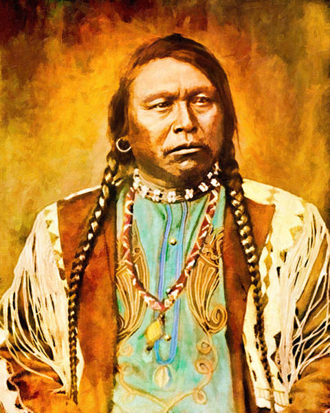 Digital Art - Chief Ouray by Rick Wicker