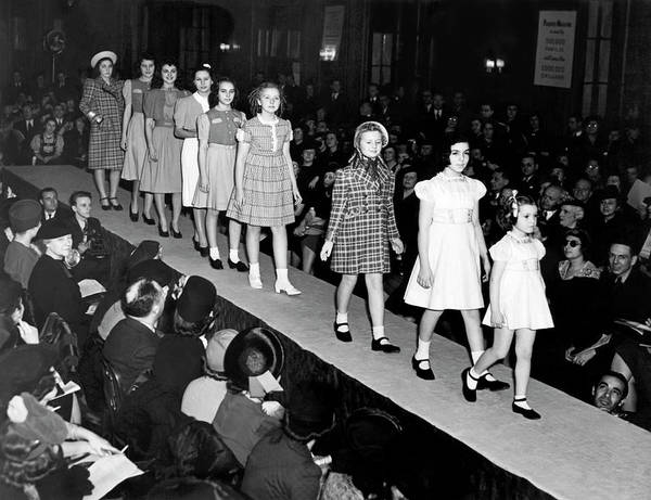 Runway Model Photograph - Children Fashion Show by Underwood Archives