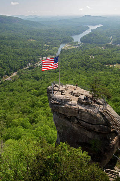 Wall Art - Photograph - Chimney Rock Viewing Platform by Jim West/science Photo Library