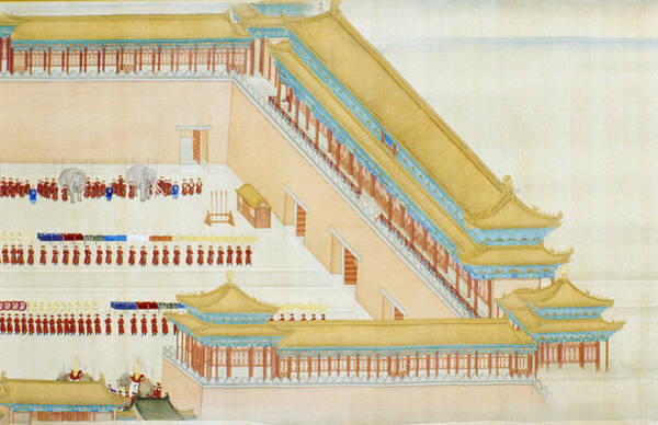 Wall Art - Painting - China Forbidden City by Granger