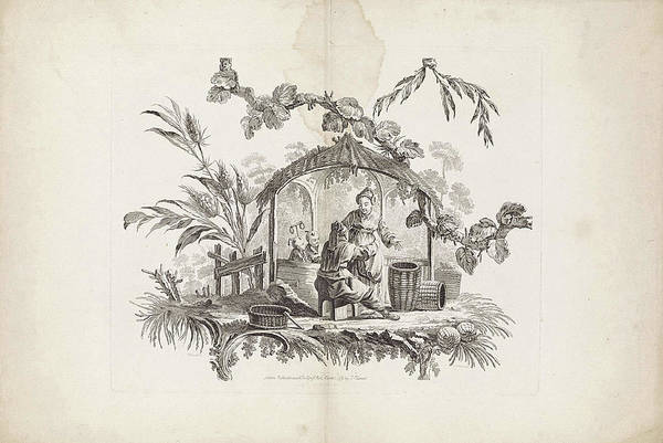 Wall Art - Drawing - Chinese Dwellings And Figures. Suite Of Six Prints by Fran?ois Antoine Aveline And Jean Baptiste Pillement