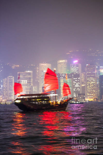 Wall Art - Photograph - Chinese Junk Sail In Hong Kong by Matteo Colombo