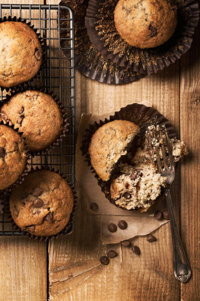 Sponge Photograph - Chocolate Chip Muffins by Amanda Elwell