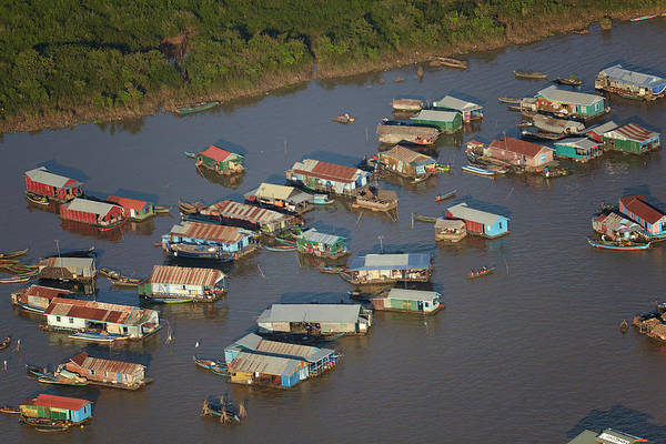 Cambodian Photograph - Chong Kneas Floating Village, Tonle Sap by David Wall