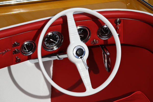 Outboard Engine Photograph - Chris Craft Wheel by Steven Lapkin