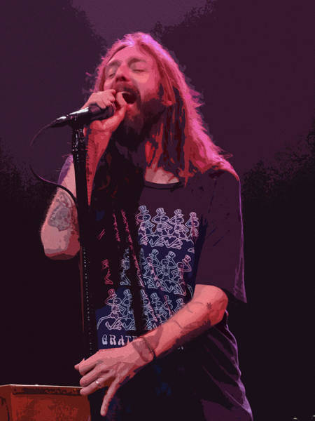 Black Crowes Wall Art - Digital Art - Chris Robinson - The Black Crowes by Michael  Wolf