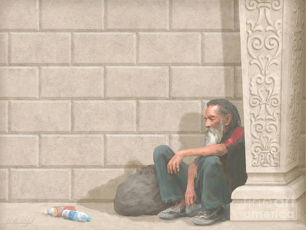 Compassion Painting - Christ At Our Doorstep by John Alan  Warford