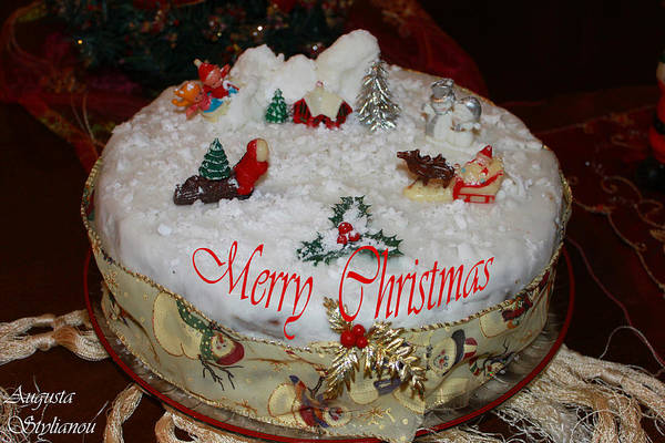 Photograph - Christmas Cake by Augusta Stylianou