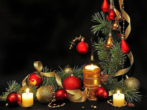 Photograph - Christmas Candles by Doc Braham