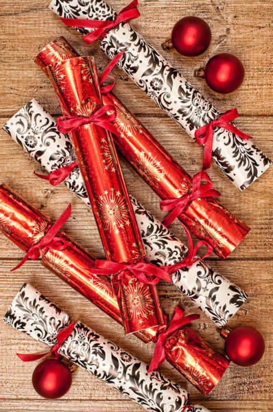 Bauble Wall Art - Photograph - Christmas Crackers by Amanda Elwell