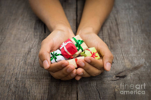 Gift Wrap Photograph - Christmas Presents by Aged Pixel