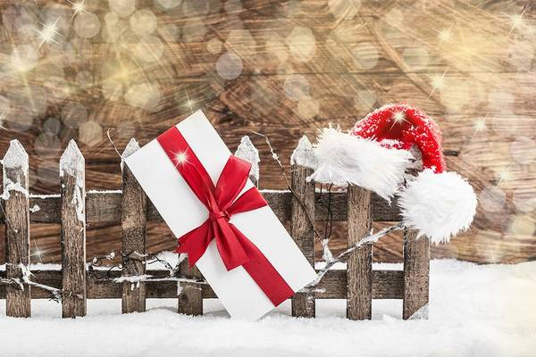 Photograph - Snowing Christmas Presents by Doc Braham