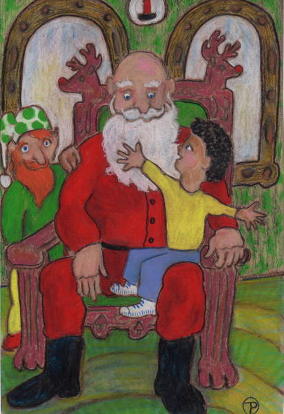 Painting - Christmas Wishes by Todd  Peterson