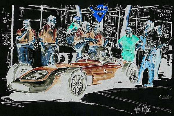 Wall Art - Painting - Chuck Daigh Scarab 1960 Grand Prix Of Monaco by Paul Guyer