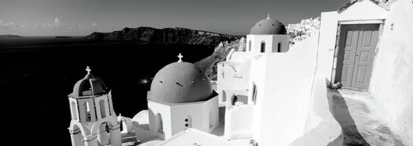 Wall Art - Photograph - Church In A City, Santorini, Cyclades by Panoramic Images