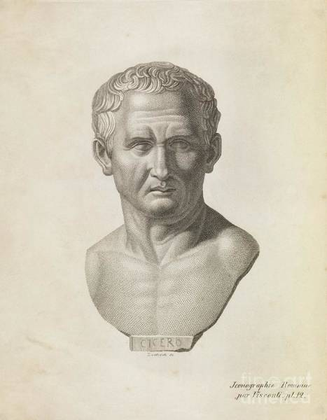Wall Art - Photograph - Cicero, Roman Philosopher by Middle Temple Library