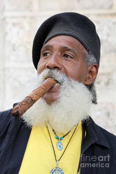 Photograph - Cigar Man by PJ Boylan