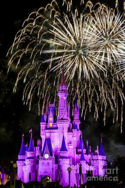 Photograph - Magic Kingdom Cinderella Castle by Andy Myatt
