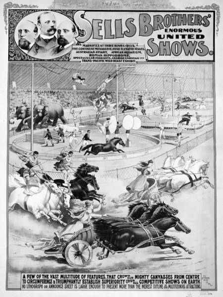 Trapeze Painting - Circus Poster, 1900 by Granger
