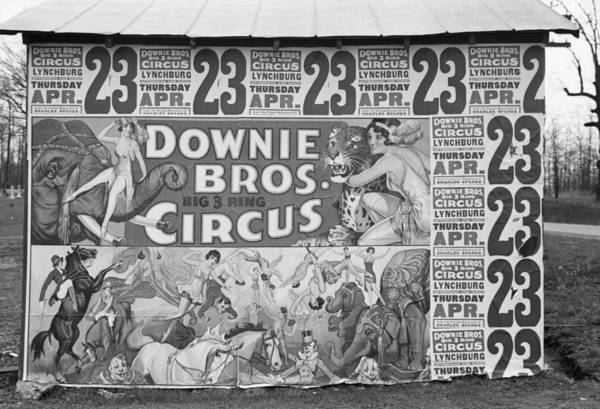 Wall Art - Photograph - Circus Poster, 1936 by Granger