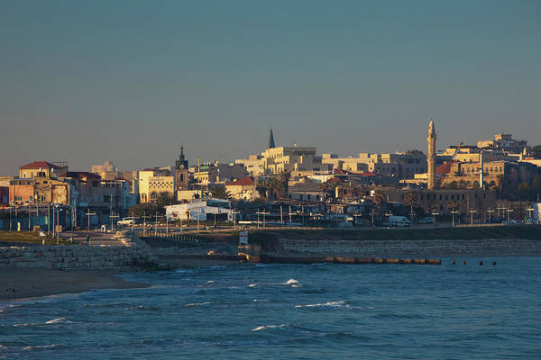 Jaffa Photograph - City At The Waterfront, Jaffa, Tel by Panoramic Images