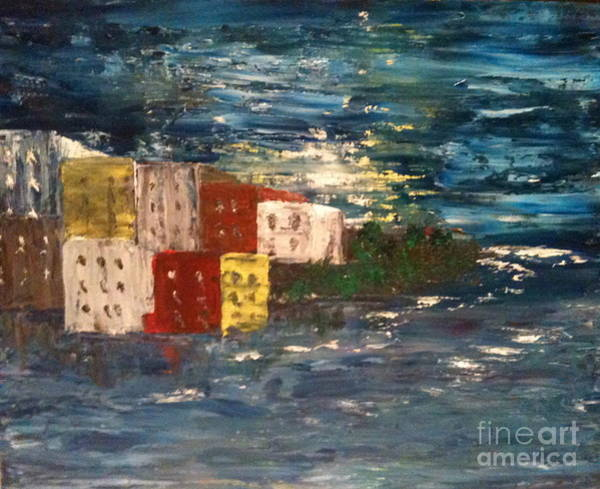 Painting - City By The Sea by Denise Tomasura