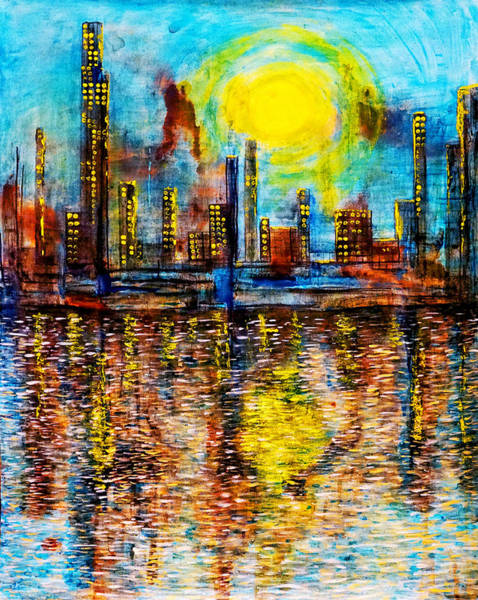 Painting - City By The Sea Of Love IIi by Giorgio Tuscani