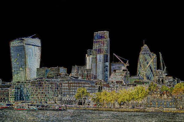 River Thames Digital Art - City Of London Art by David Pyatt