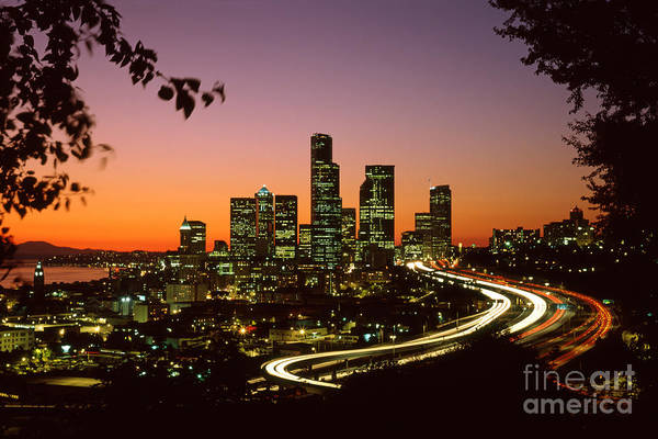 Seattle Skyline Photograph - City Of Seattle Skyline by King Wu