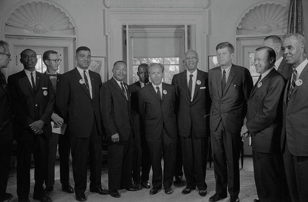 Mathew Photograph - Civil Rights Leaders Meet by Stocktrek Images