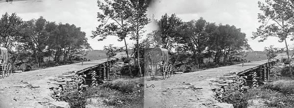 Wall Art - Photograph - Civil War Bridge, 1862 by Granger