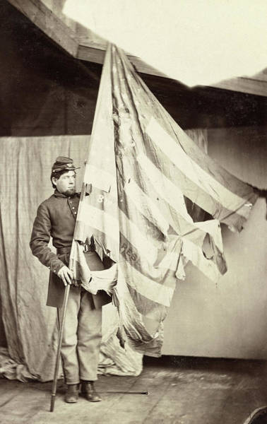 Wall Art - Photograph - Civil War Flag, C1863 by Granger