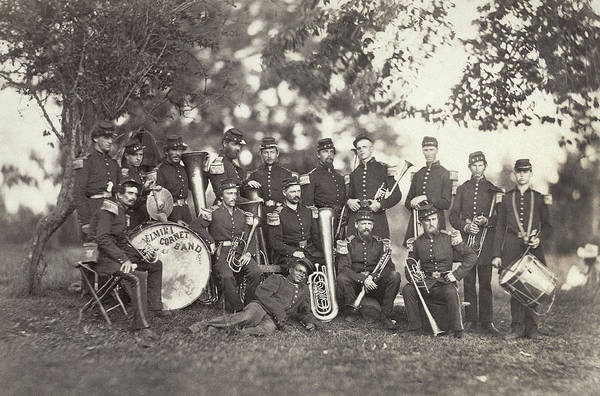 Wall Art - Photograph - Civil War Musicians, 1861 by Granger