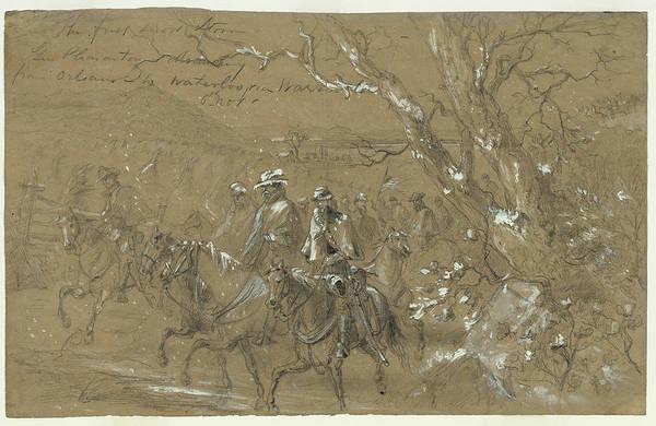Warrenton Wall Art - Drawing - Civil War Warrenton, 1862 by Granger