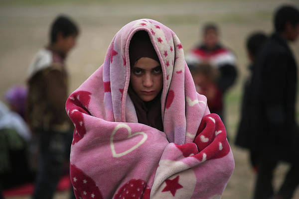 Photograph - Civilians Flee War As Isil Frontline by John Moore