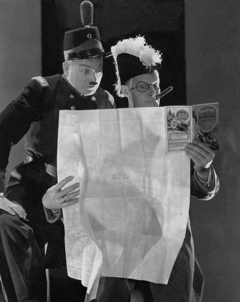 Reading Photograph - Clark And Mccullough In Strike Up The Band by Edward Steichen
