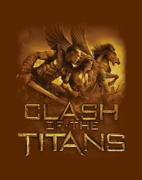 The Clash Wall Art - Digital Art - Clash Of The Titans - Heroes by Brand A