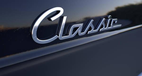 Reflective Digital Art - Classic Chrome Car Emblem by Allan Swart