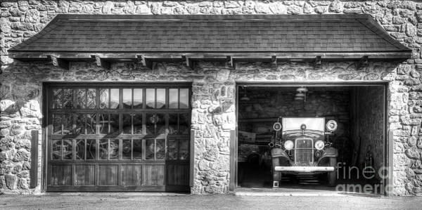 Fire Station Photograph - Classic Fire Engine At The Firehouse by Twenty Two North Photography