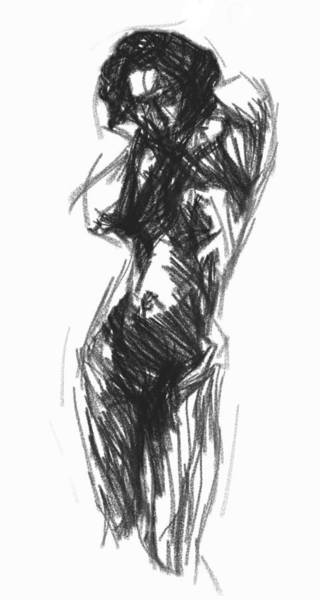 Lingery Wall Art - Painting - Classic Nude by Steve K