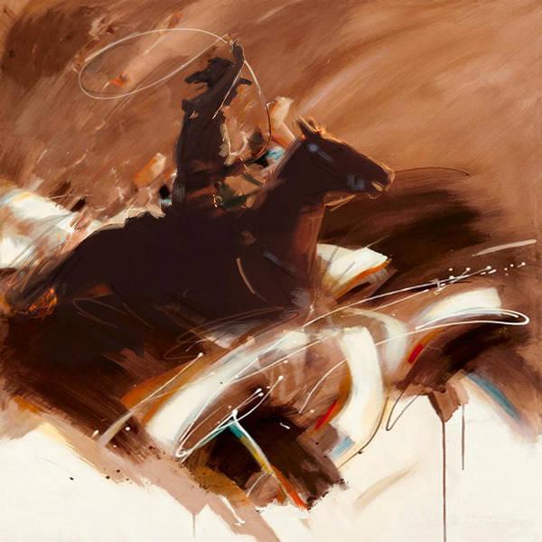 Arlington County Wall Art - Painting - Classic Rodeo 4b by Maryam Mughal