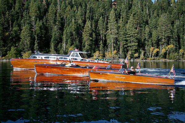 Outboard Engine Photograph - Classic Tahoe by Steven Lapkin